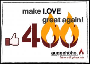 400 Likes für Liebe auf Augenhöhe!